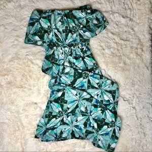 Mossimo Strapless Drawstring Waist Maxi Dress